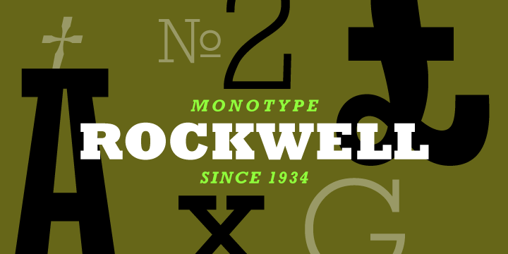 Rockwell Typeface | The Academic Book of the Future