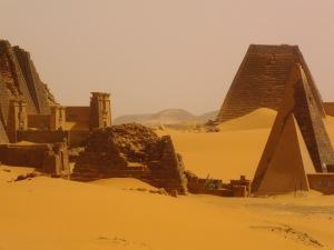 Pyramids at Meroc