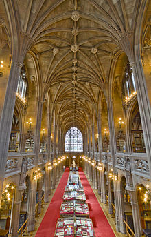The reading room of the John Rylands Library